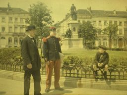 Alfonse Van Besten, Civic and military garb c. 1911, autochrome 9 x 12